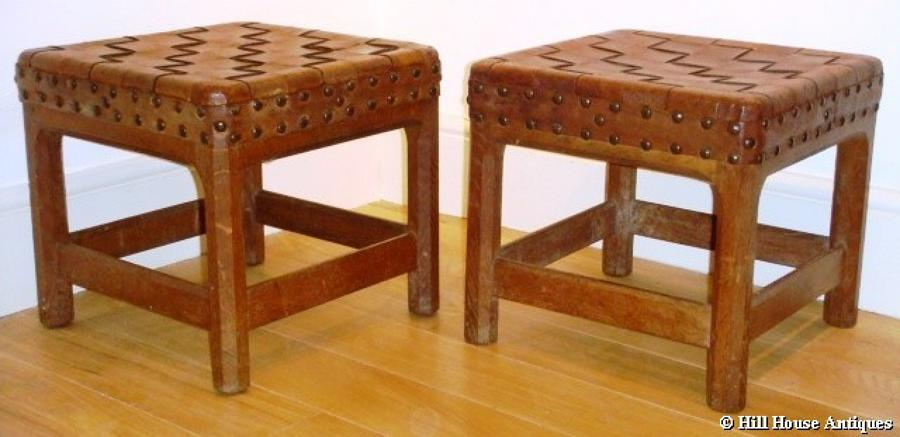 Gordon Russell pair of stools