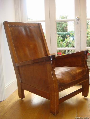 Rare early Mouseman fireside chair