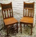 Shapland & Petter oak & copper hall chairs - picture 2