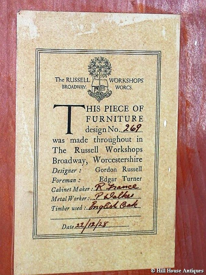 Rare Gordon Russell wardrobe design 269