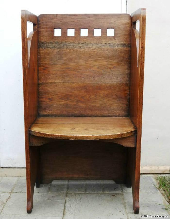 Wylie & Lochhead Glasgow Style hall seat