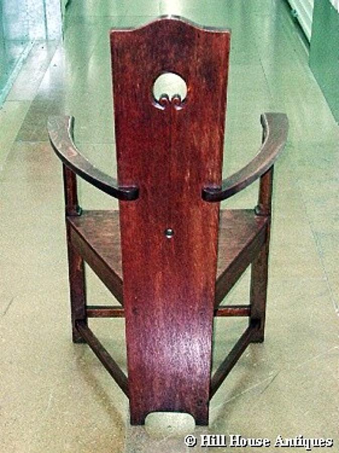 MH Baillie Scott oak armchair