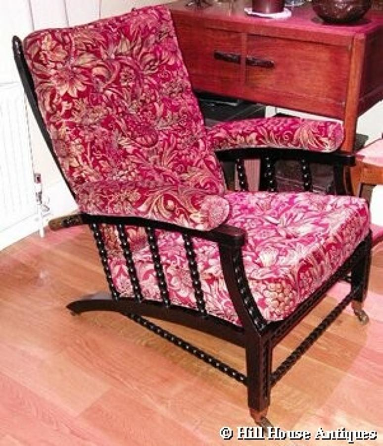 Rare Morris & Co Philip Webb recliner