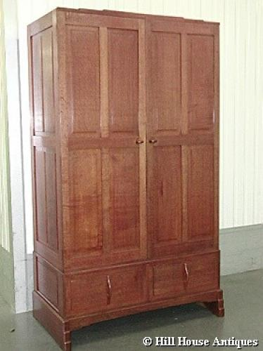 Rare early Edward Barnsley linen press