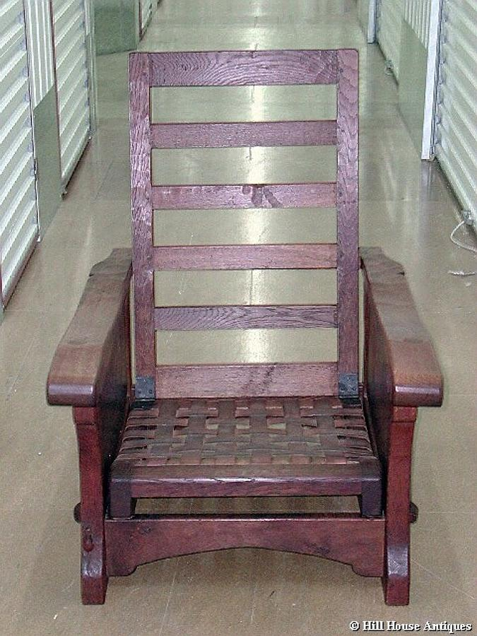 Rare early Mouseman recliner armchair