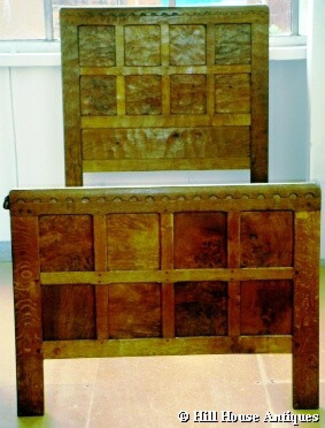 Rare pair of early Mouseman beds