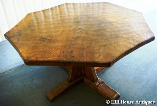 Rare early Mouseman dining table