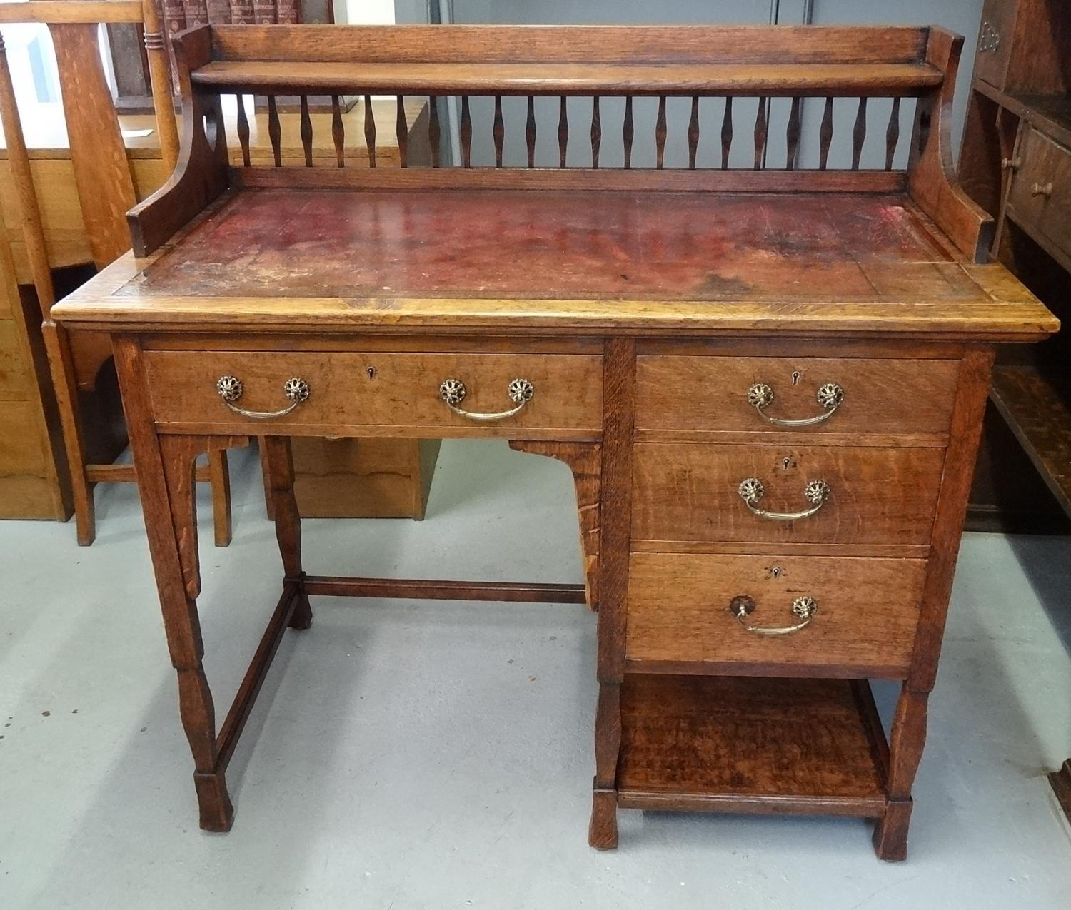 Shapland & Petter oak desk