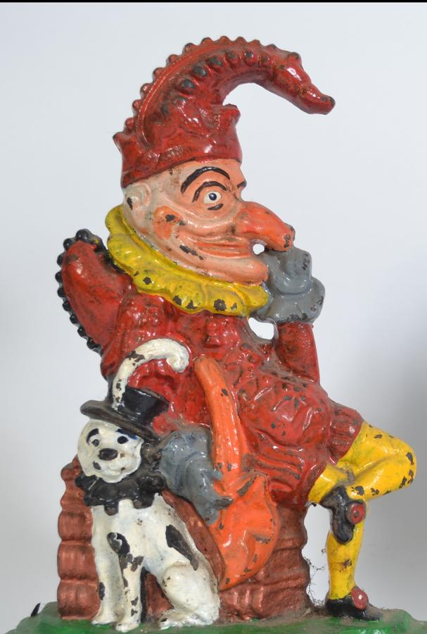 Late Victorian Folk Art Punch Judy doorstops