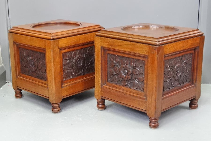 Pair of Gillows Bruce Talbert pedestal bases