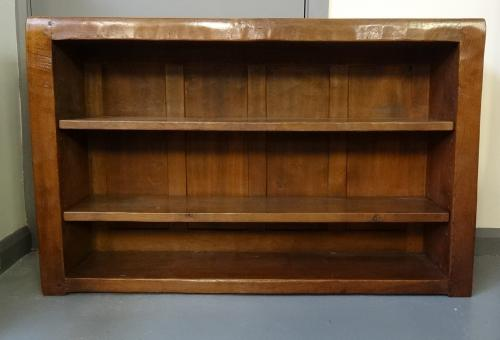 Mouseman style oak low bookcase