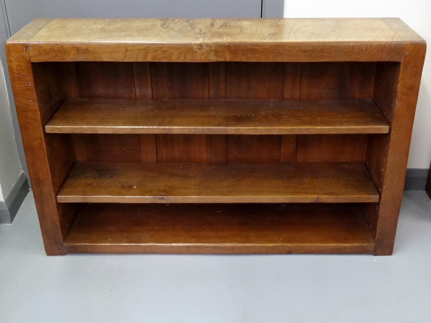 Lovely ... Mouseman Style Oak Low Bookcase   Picture 2 ...
