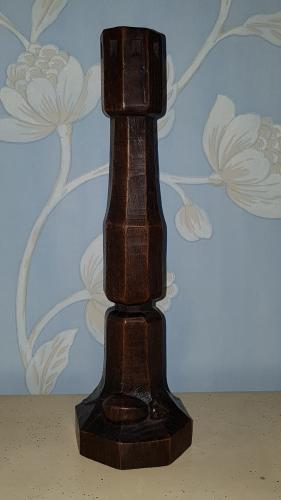 Early Mouseman lamp/candlestick