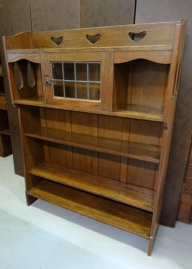Liberty & Co Voyseyesque oak bookcase