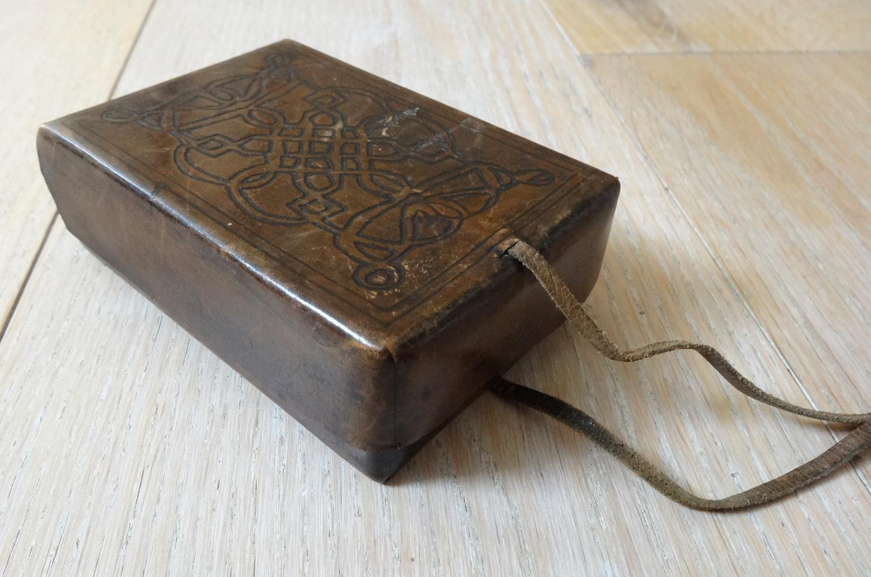 Rare Casa Guidi Arts & Crafts leather case