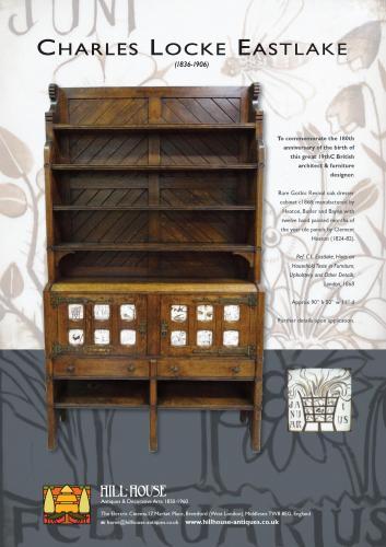 Rare Charles Locke Eastlake cabinet dresser