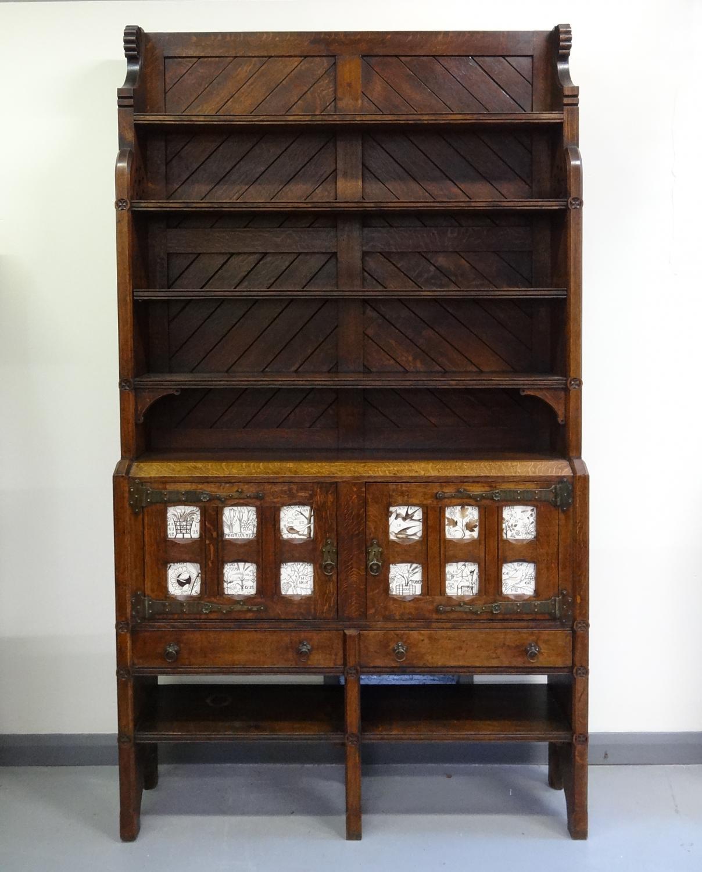 Rare Charles Locke Eastlake cabinet dresser in Architect-Designed