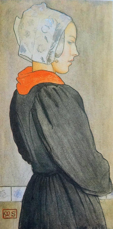 Marianne Stokes tempera on panel