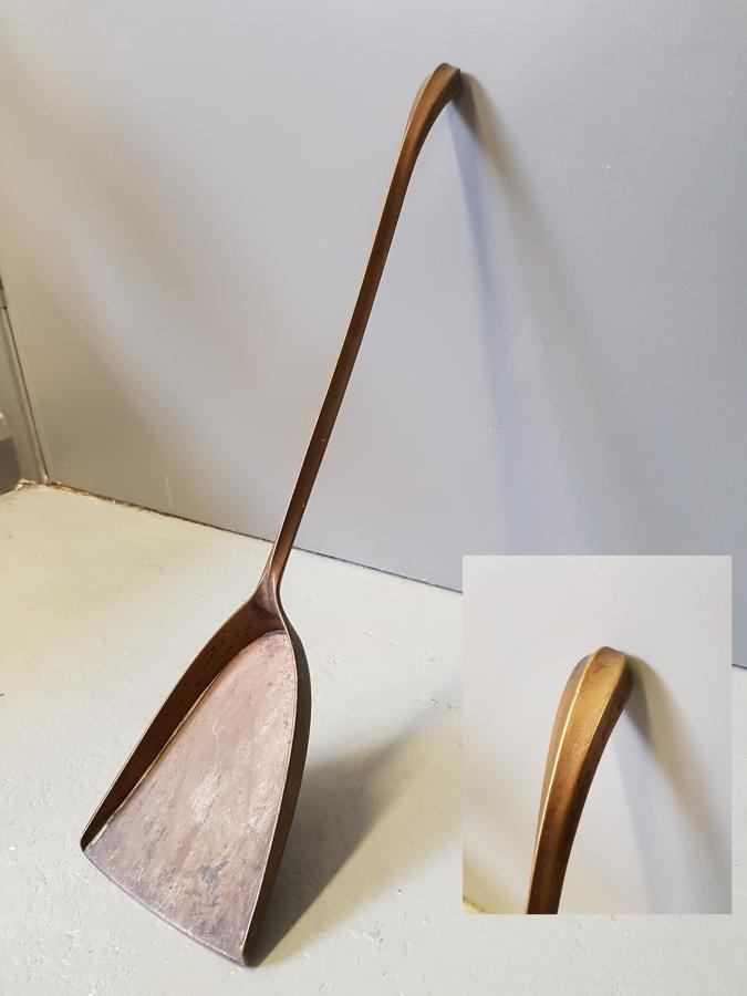 Rare WAS Benson bronze fire shovel