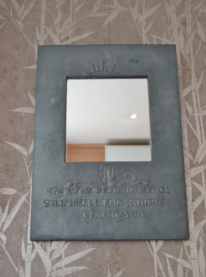 Glasgow Style Arts & Crafts motto mirror