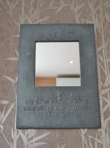 Glasgow Style Arts & Crafts motto mirror
