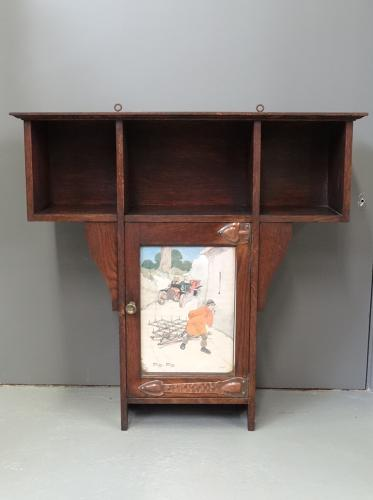 Shapland and Petter Hassall Arts and Crafts wall cabinet