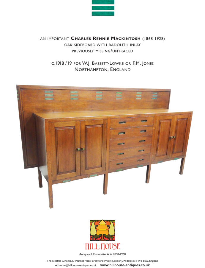 Charles Rennie Mackintosh sideboard Candida Cottage