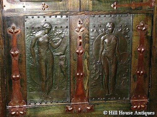 James Smithies Arts and Crafts exhibition cabinet