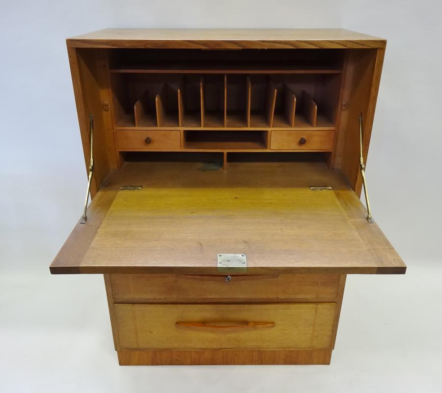 Arthur Simpson of Kendal oak secretaire cabinet