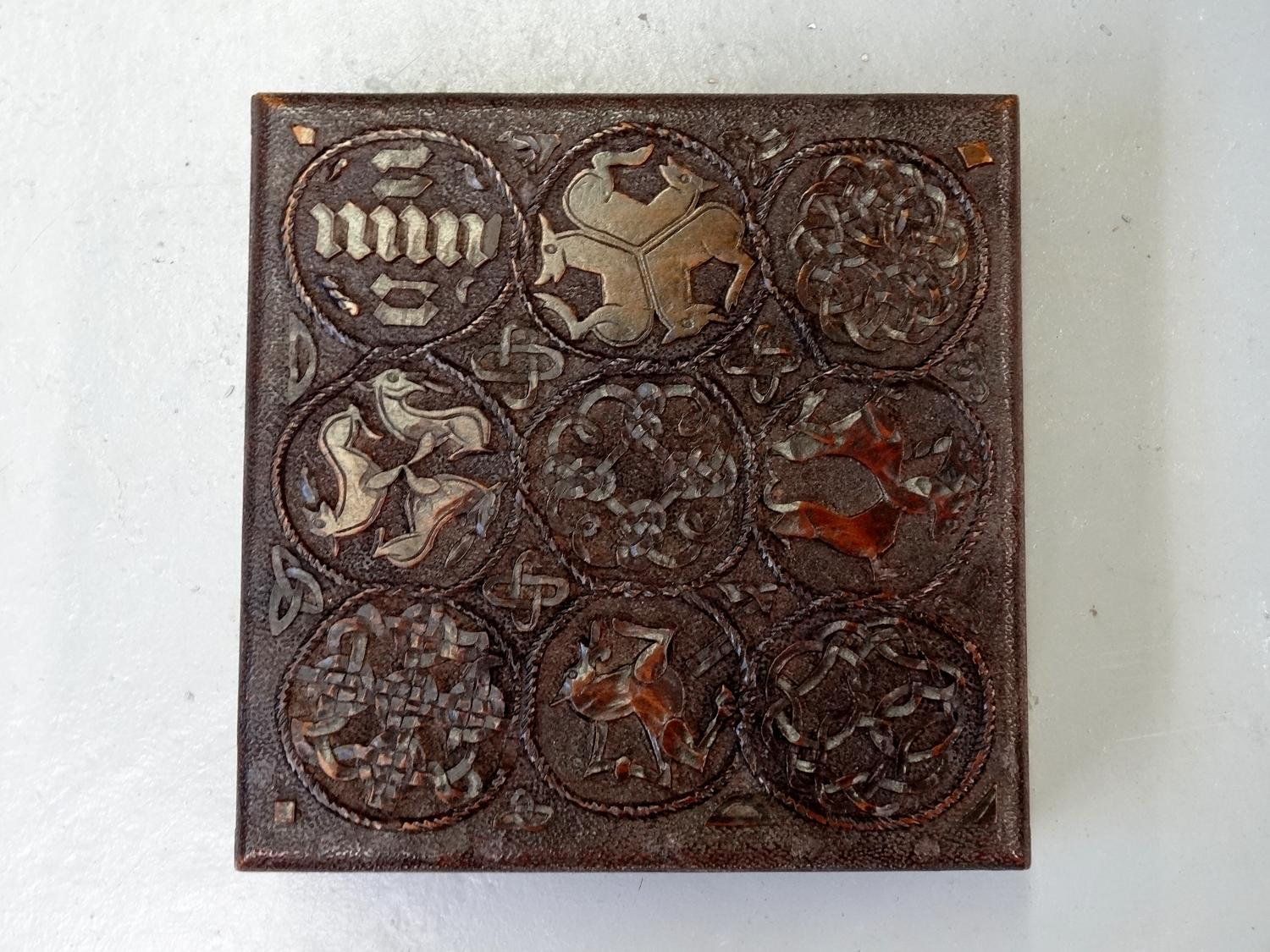 Celtic Arts & Crafts carved small box