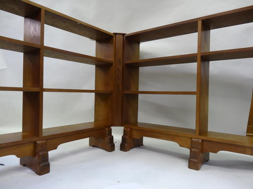 Cotswold School Barnsley corner bookshelves