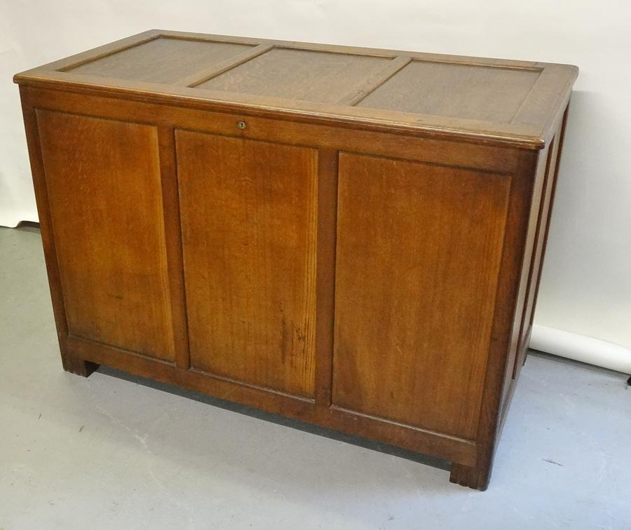 Betty Joel Art Deco large oak coffer chest