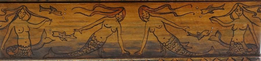 Arts & Crafts Glasgow Style Mermaid box