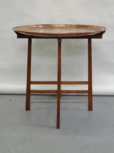 Keswick School Arthur Simpson copper tray oak table