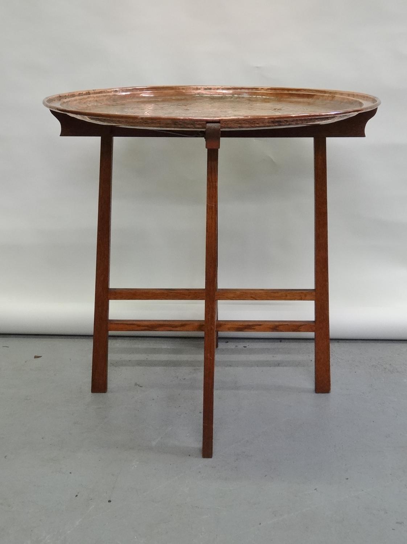 Keswick School Arthur Simpson copper tray oak table