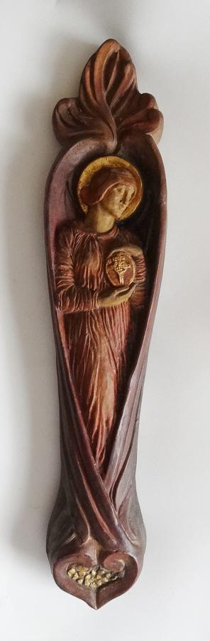 Mary Seton Watts Compton Pottery saint figure