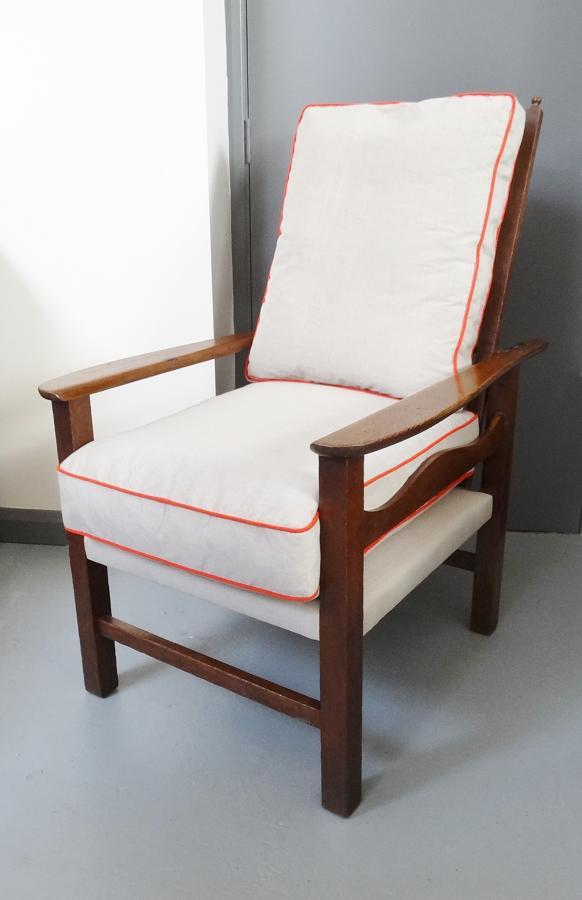 Ambrose Heal Voyseyesque oak recliner