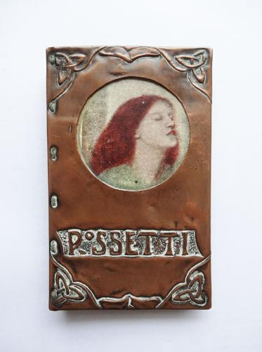 Rossetti Arts & Crafts Preraphaelite miniature copper book