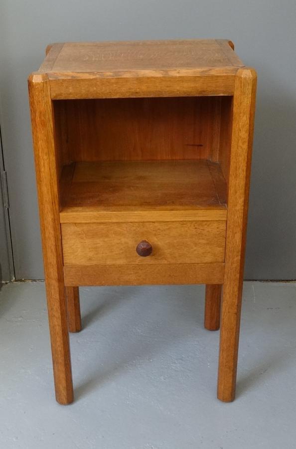 Gordon Russell oak Stow bedside cabinet