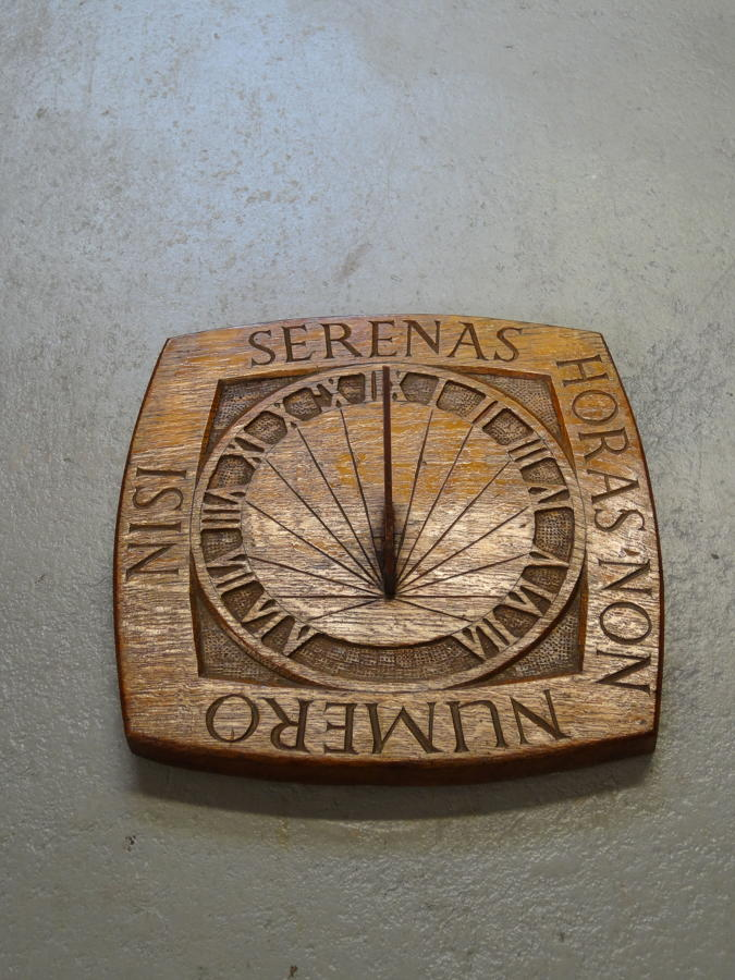Arts & Crafts oak sundial