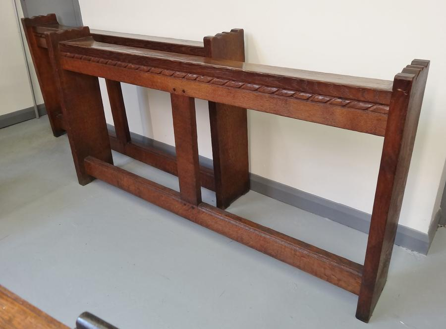 Mouseman oak church rails benches kneelers
