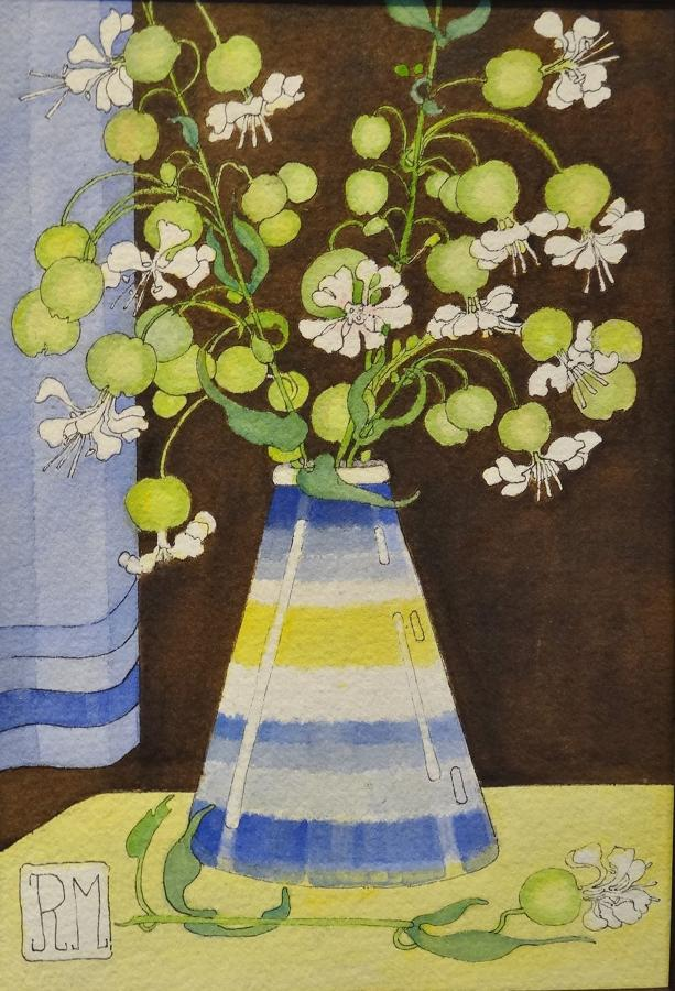 Rosemary Marshall watercolour - Sea Campion
