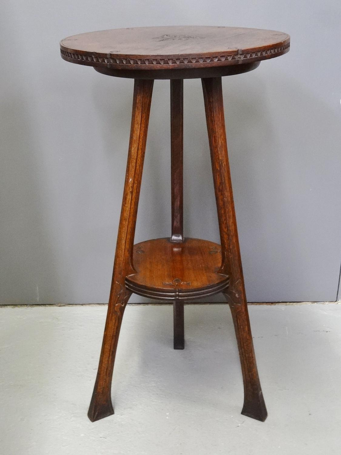 Supremely rare WAS Benson Arts & Crafts occasional table