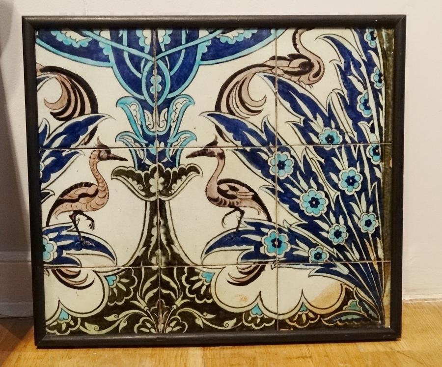 Rare William de Morgan Iznik tile panel