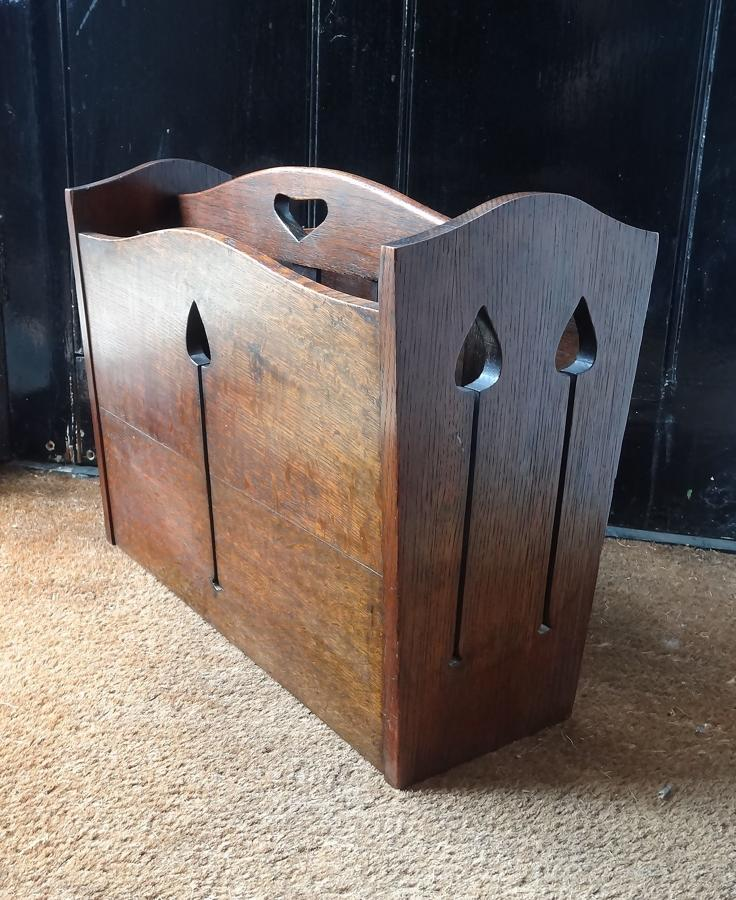 Liberty Arts & Crafts oak magazine rack