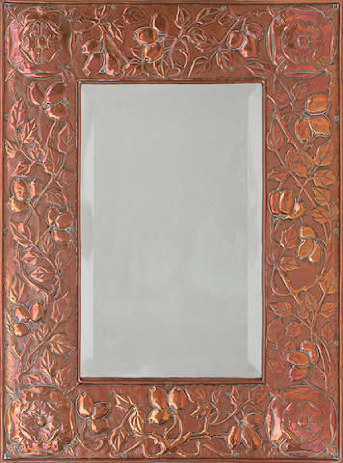 Keswick School of Industrial Art copper framed mirror