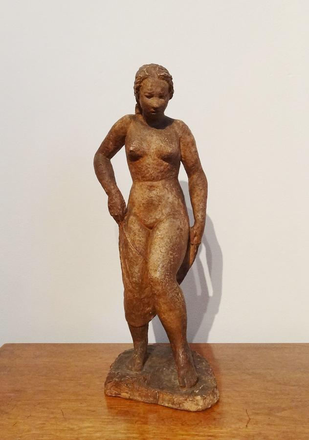 Laurent Friedrich Keller early 20thC terracotta nude