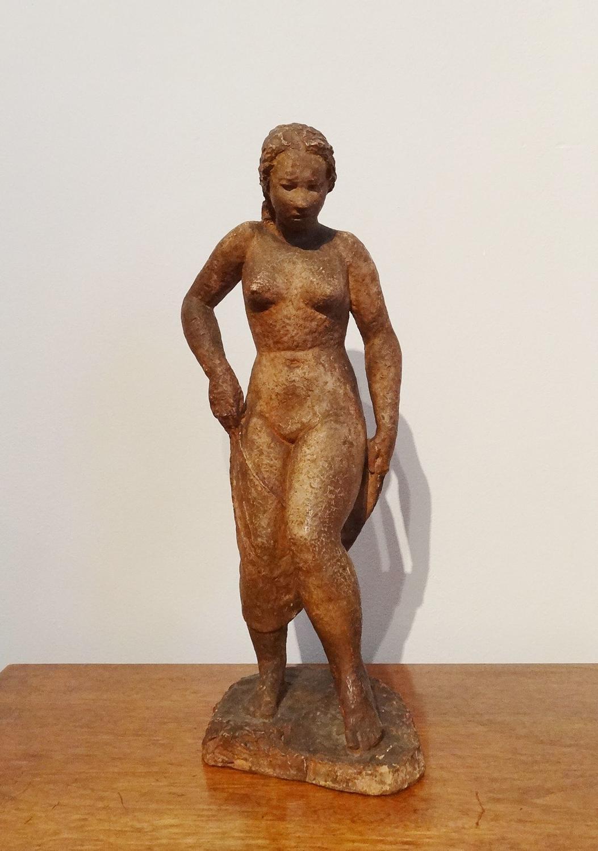 Laurent Friedrich Keller early 20thC terracotta nude