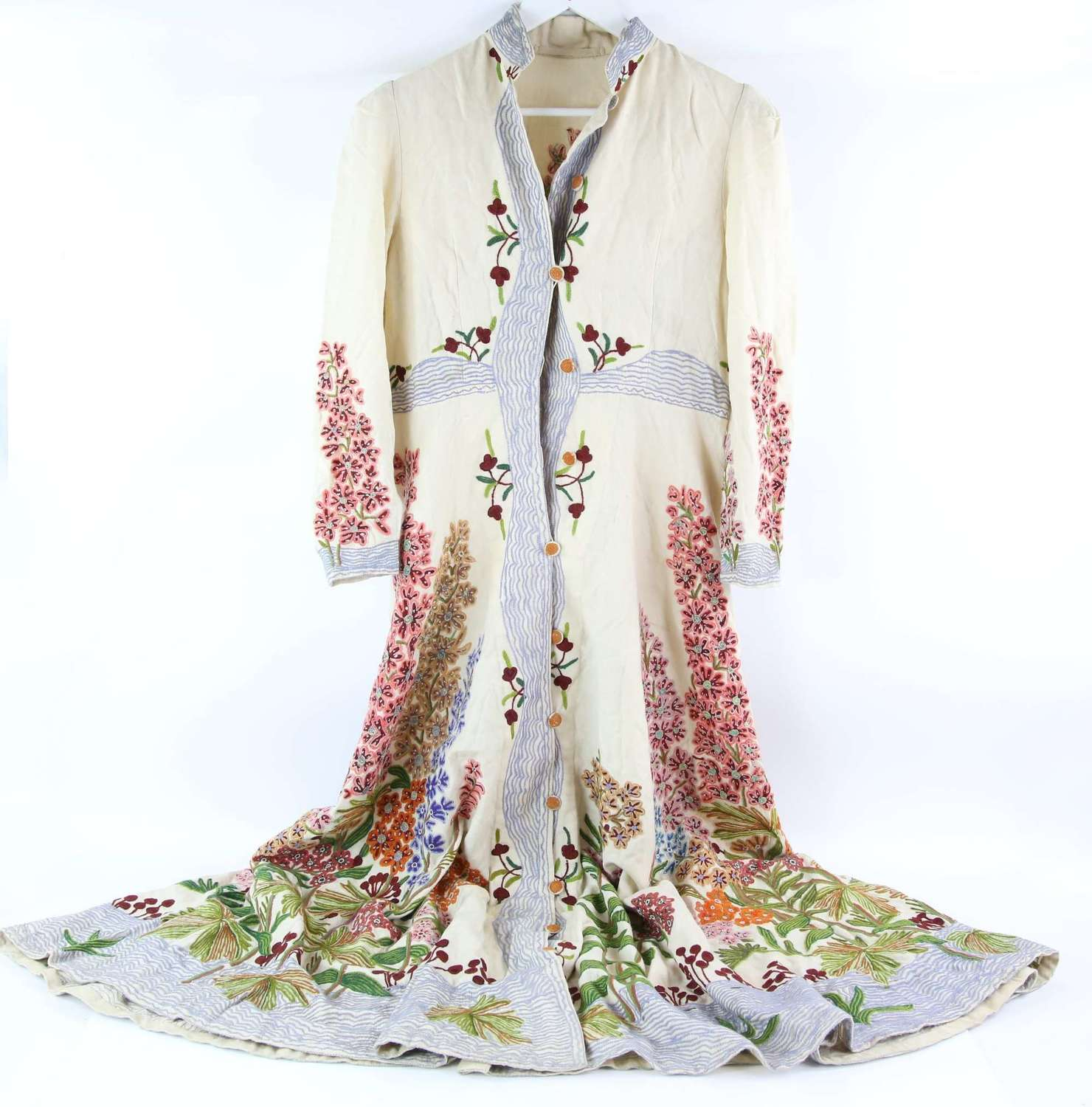 Early 20thC fully embroidered coat dress