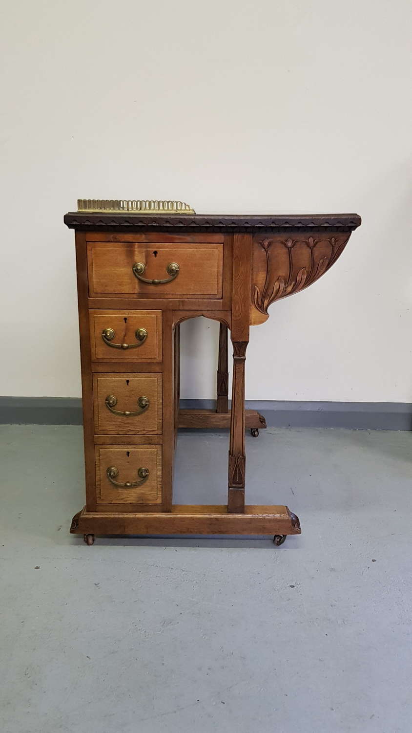 Rare WAS Benson Arts & Crafts Nouveau davenport style desk